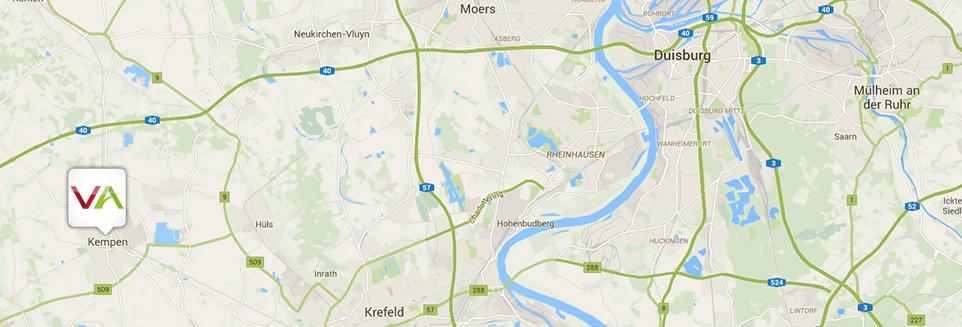 Anreise Vanameland Niederrhein