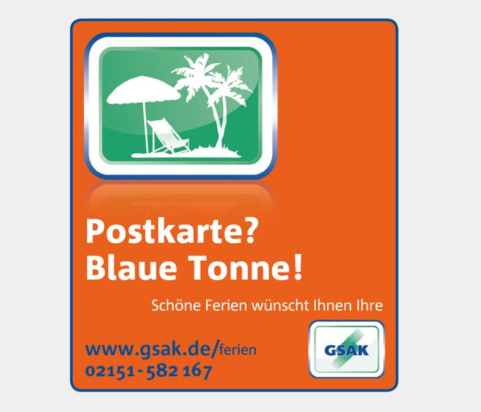 Anzeigenkampagne GSAK Krefeld