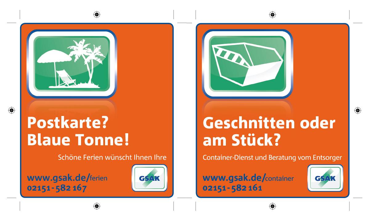 Anzeigenkampagne GSAK Vanameland