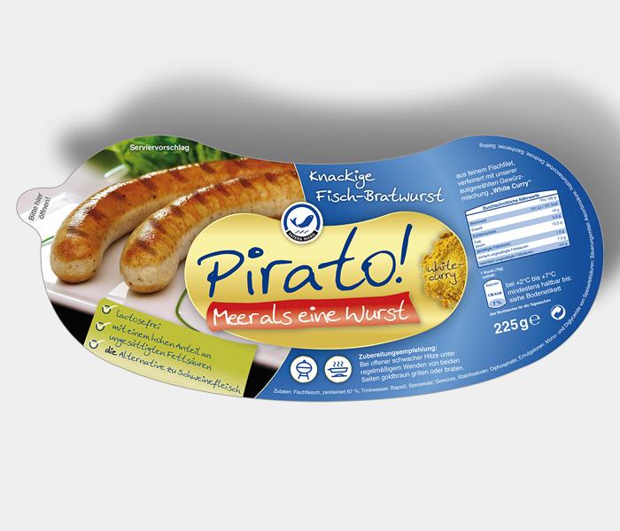 Pirato Marke und Verpackungsdesign Vanameland